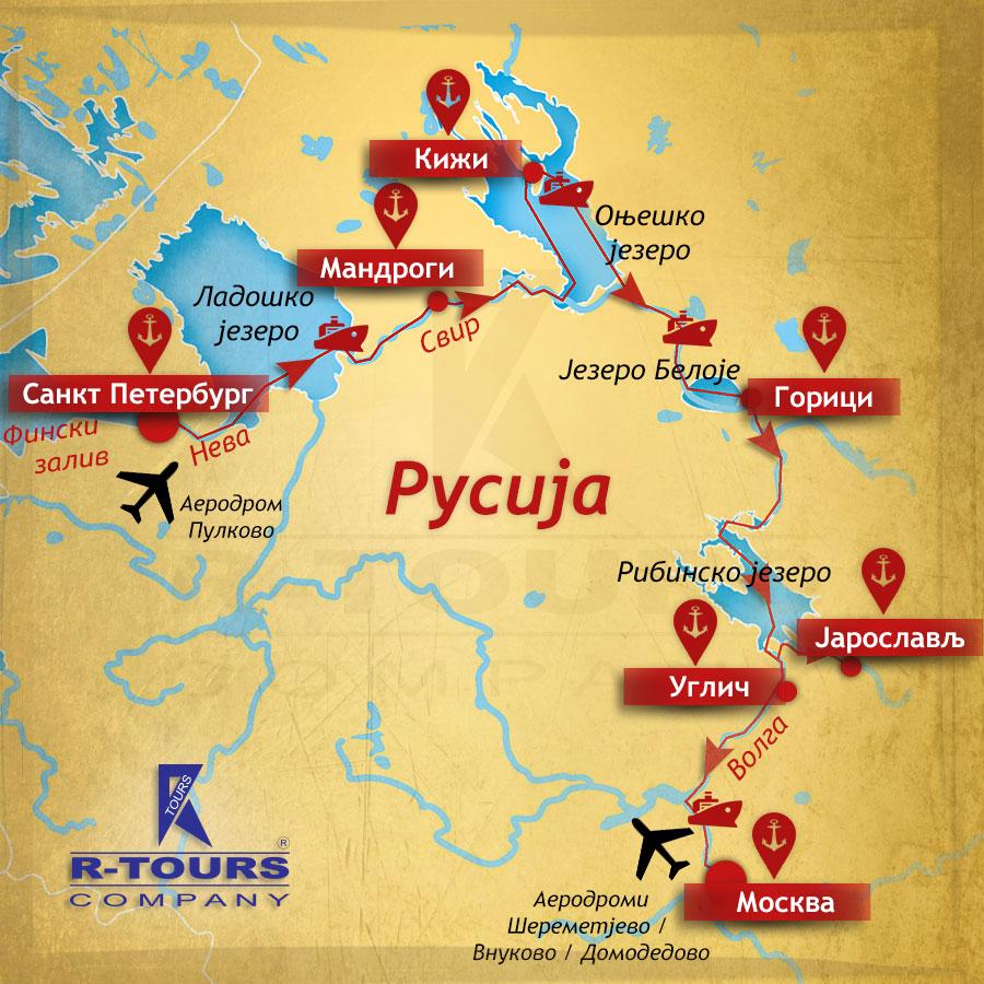 Opis Krstarenja St Peterburg Moskva Volgo Baltici Vodeni Put